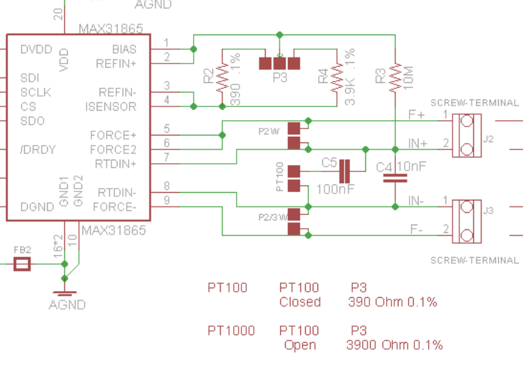 PT100 and PT1000 Breakout Board with MAX31865 – Charles's Blog